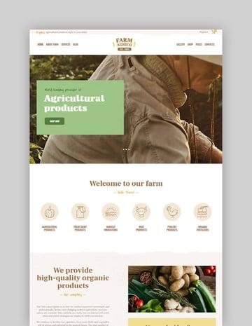 Farm Agrico  Agricultural Business  Organic Food WordPress Theme