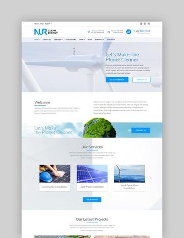 Nur - Alternative  Renewable Energy WordPress Theme