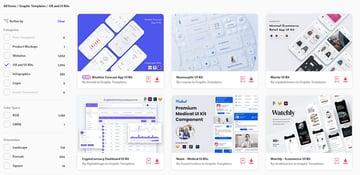 Figma UI Kits on Envato Elements