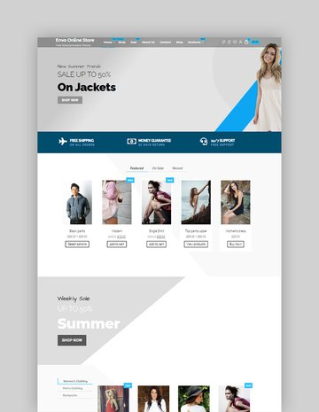 Envo Online Store Free WordPress Theme