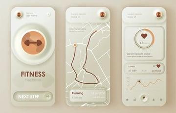 Fitness Neumorphic Mobile App UI Kit