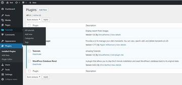 tutorials custom post type
