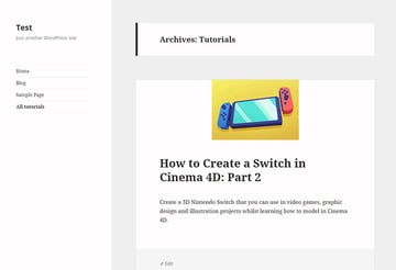 tutorials archive page