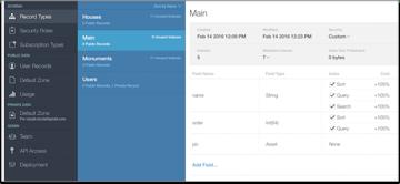 appyMaps Main table in CloudKit