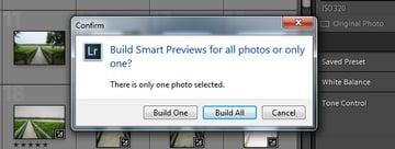 Build Smart Previews - All