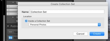 Creating Collection sets