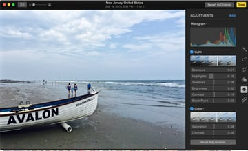 Apple Photos Edit features