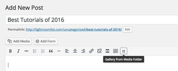 Add Gallery WordPress post