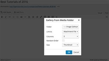 Gallery from Media Folder