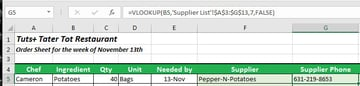 Our Excel vlookup formula is Updated for Supplier Phone