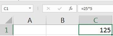 Excel formula bar