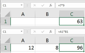 Excel Multiplication formula