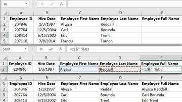 How to Concatenate in Excel Example