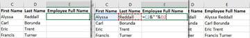 Excel Space in Concatenate