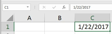 Date in Excel