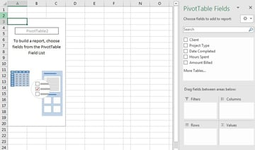 PivotTable Builder in Excel