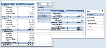 Slicer Example in Excel PivotTable