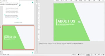 Use PowerPoint speaker notes