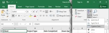 Sort  Filter in Excel