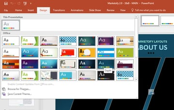 PowerPoint built-in themes