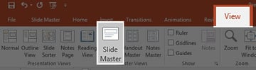 View Slide Master in PowerPoint