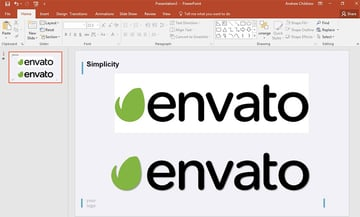 Envato Logo Image Edited in PowerPoint
