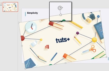 Quickly tilt images in PowerPoint