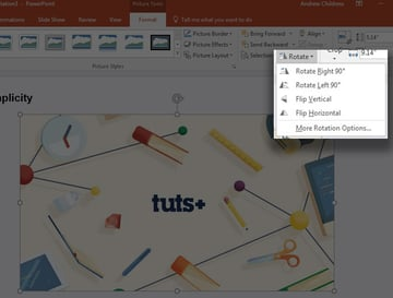 Rotate image in PowerPoint
