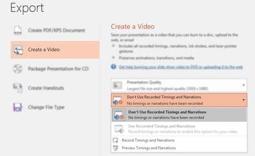 Export Timings in PowerPoint videos