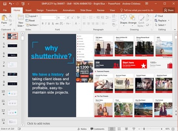 Attention-getter in PowerPoint first slide