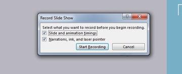 Start Recording PowerPoint slide show