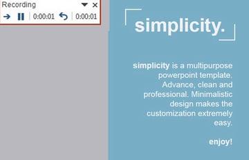 Recoding Window in PowerPoint