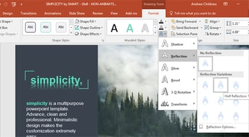 PowerPoint Text effects