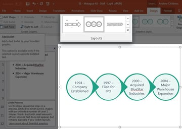 Change Timeline Layout in PowerPoint