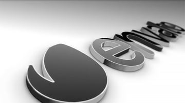 Black Classic 3D Logo in After Effects