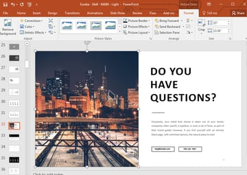 Any questions slide in PowerPoint