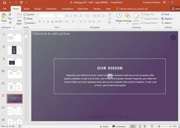 Motagua PowerPoint Theme example