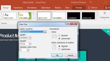 Change slide size on customize dropdown