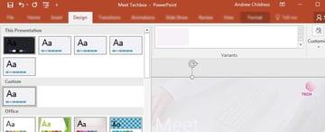Design Tab PowerPoint