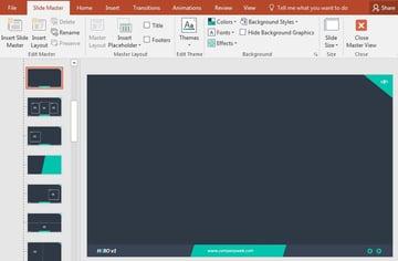 Slide Master on Elements template