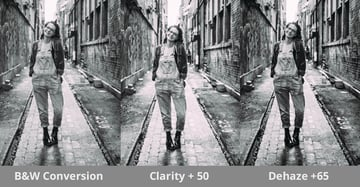 Standard Clarity and Dehaze Images