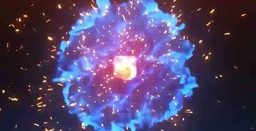explosive particles