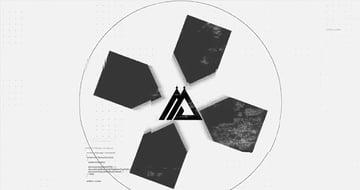 Black White Glitch Logo