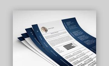 Photo resume template