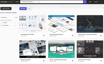 Elements PowerPoint Themes Example