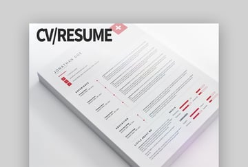 CV Resume clean and modern