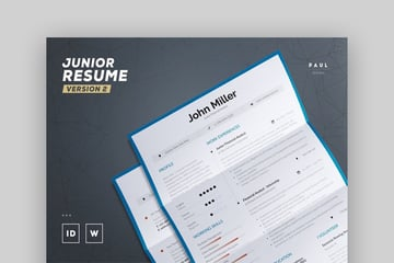 Junior Resume CV Template