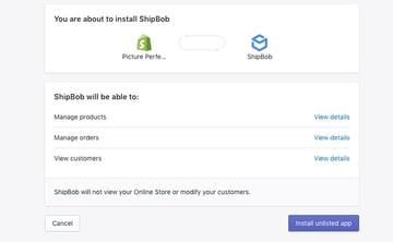 Connect Shopify and ShipBob