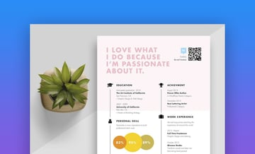Creative and colorful timeline resume