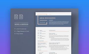 Creative and Minimal Resume Template